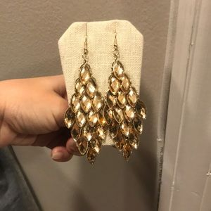 Gold chandler earrings